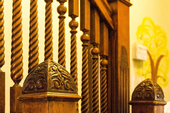Carved Wooden Staircase